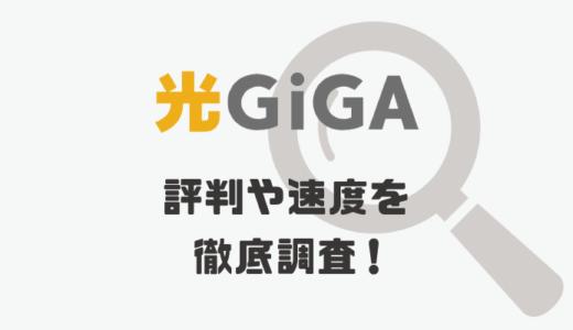 光GiGA(光ギガ)の評判や料金ってどうなの?速度が遅い理由が明らかに!
